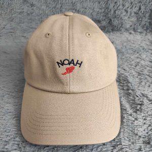 Noah NYC Black Core Logo Wing Foot 6 Panel Cap